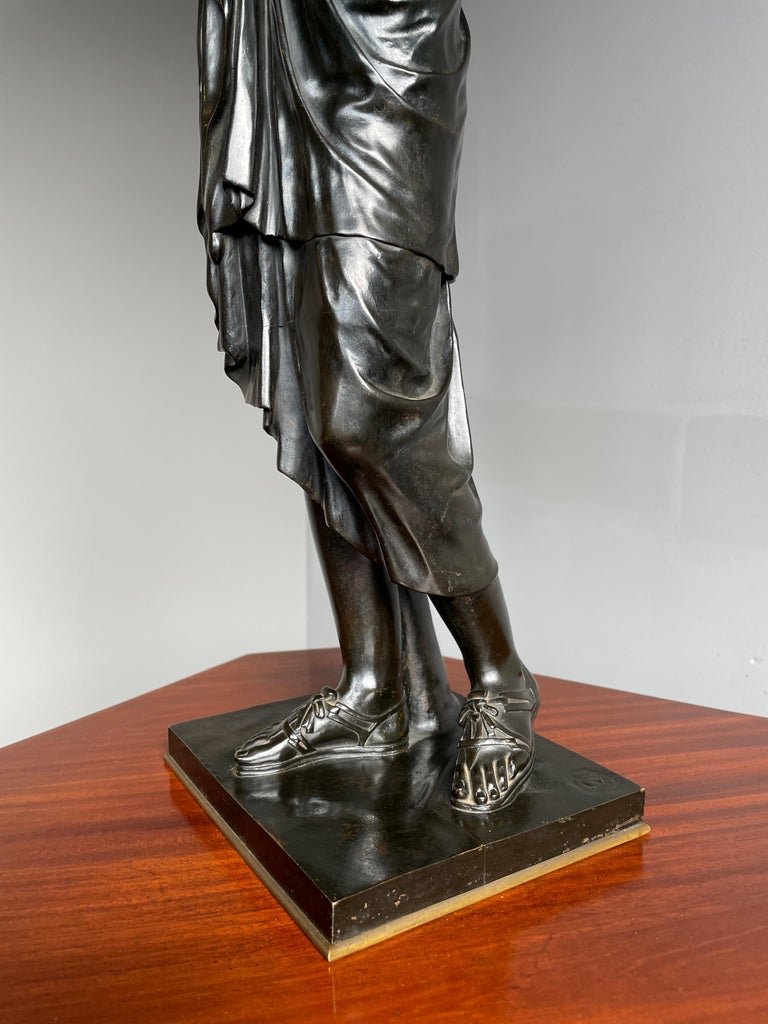Antique Bronze Diana of Gabii Sculpture Made & Marked F. Barbedienne & L. Collas For Sale 10