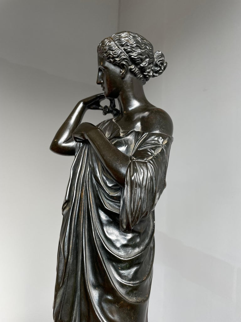 Antique Bronze Diana of Gabii Sculpture Made & Marked F. Barbedienne & L. Collas For Sale 11