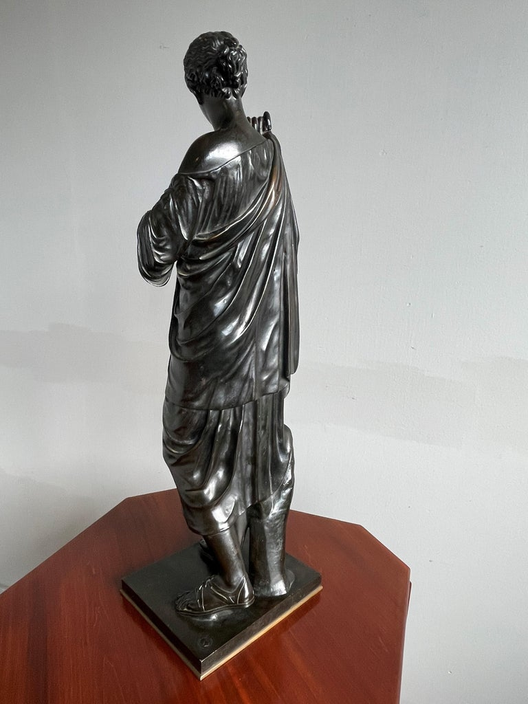 Antique Bronze Diana of Gabii Sculpture Made & Marked F. Barbedienne & L. Collas For Sale 12