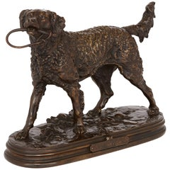Antique Bronze Dog Figure by Pierre-Jules Mene