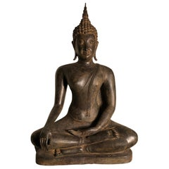 Antique Bronze Enlightenment Buddha , 200 Years Old