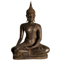 Antique Bronze Enlightenment Buddha, 200 Years Old