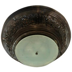 Antique Bronze Flush Mounted Fixture