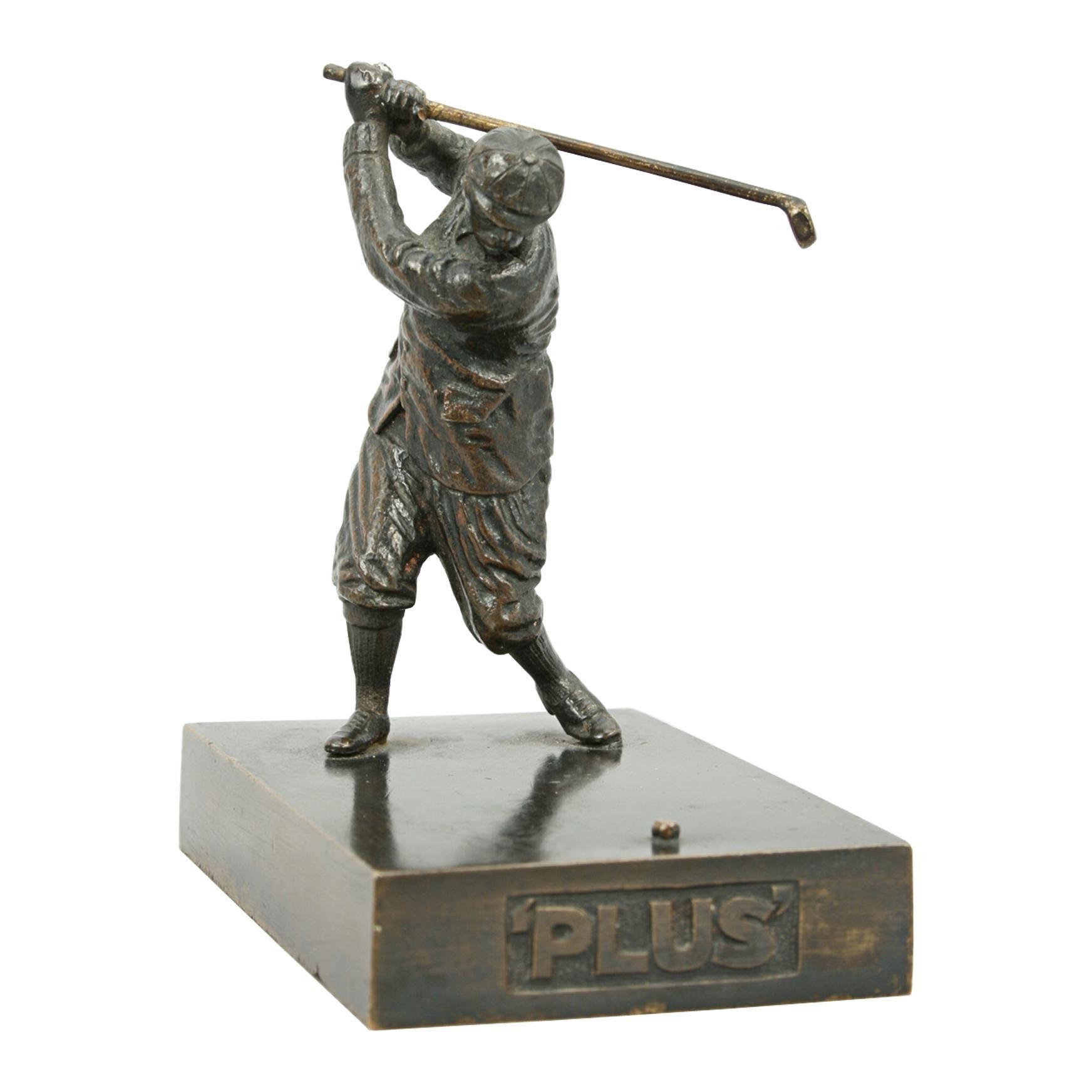 Antique Bronze Golf Figure
