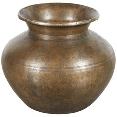 Antique Bronze Holy Water Vessel from Nepal