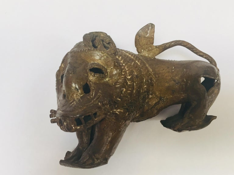 Antique Bronze of a Mythical Lion Beast For Sale 12