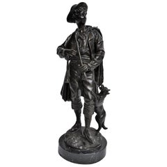 Antique Bronze of Scottish Highlander with Bagpipes