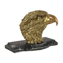 Antique Bronze Sculpture Bust of a American Eagle