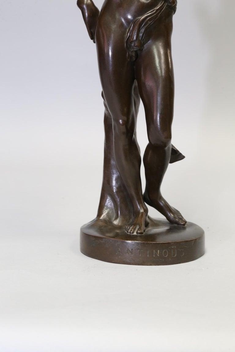 Antique Bronze Sculpture of Antinous of Belvedere, 19th Century, Italian For Sale 2