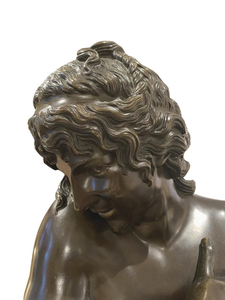 Antique Bronze Sculpture, Semi-Nude Bather, Remarkable Detail, French For Sale 4