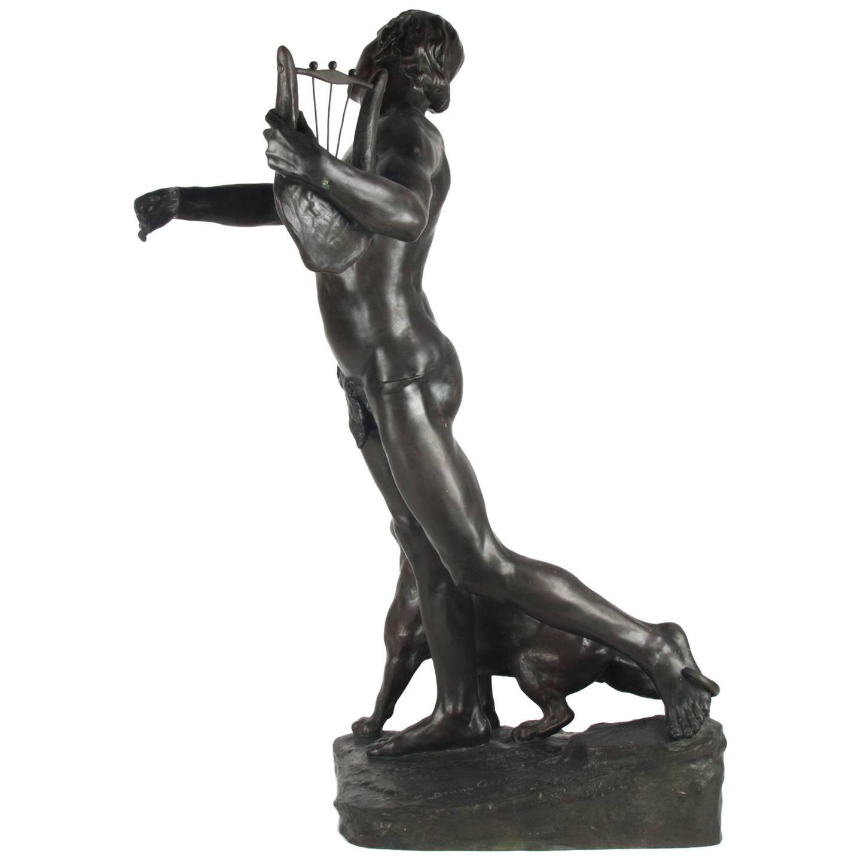 Antique Bronze Sculpture, Signed on Base, Bruno Gerrits