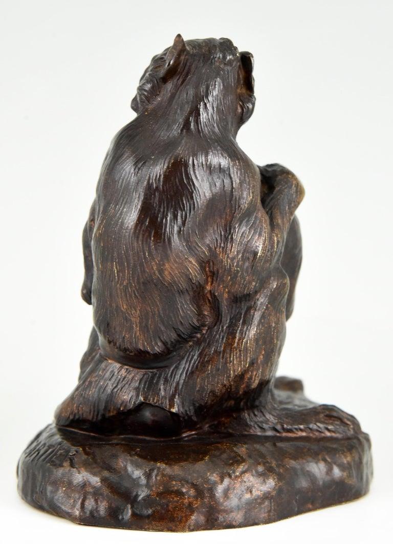 20th Century Antique Bronze Sculpture Two Monkeys Thomas François Cartier, France, 1900 For Sale