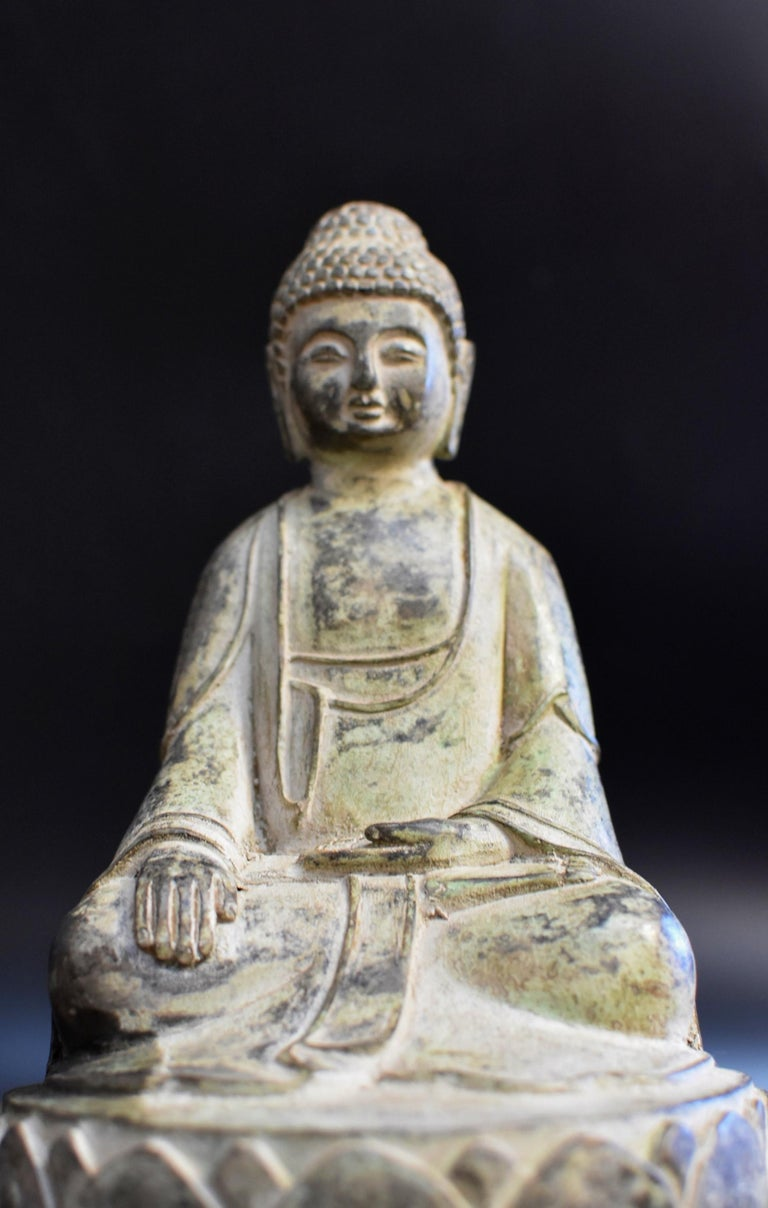 Bronze Statue of Young Buddha For Sale 8