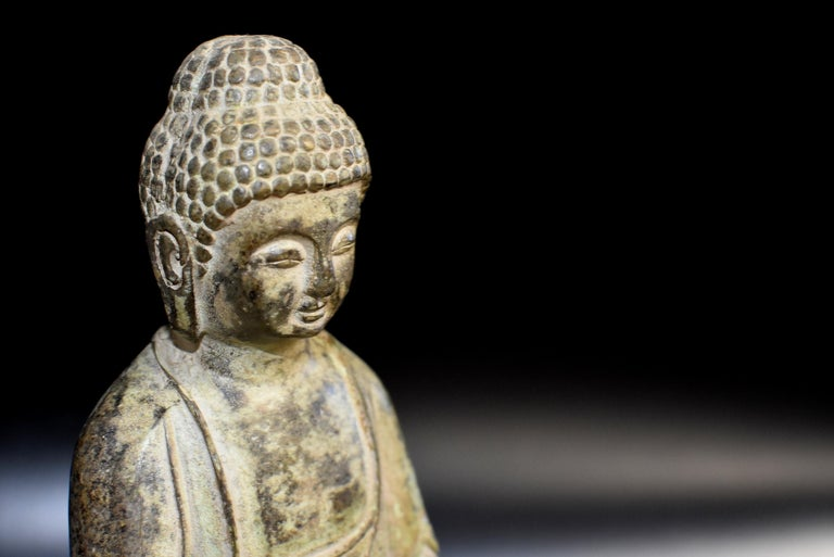 20th Century Bronze Statue of Young Buddha For Sale