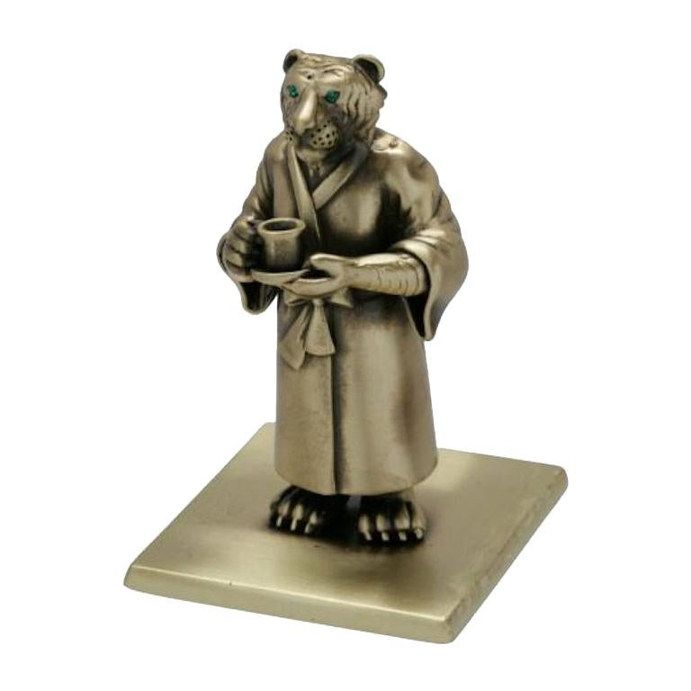 """Antique Bronze """"The Year Of The Tiger"""" by John Landrum Bryant For Sale"""