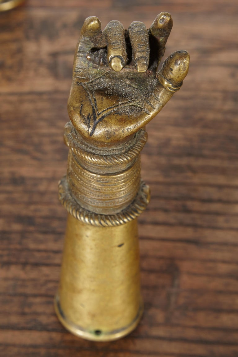 Antique Bronze Votive Hands From India At 1stdibs