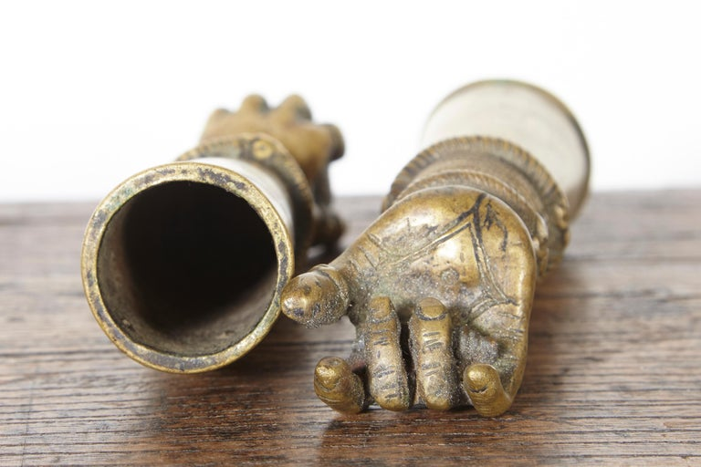 Antique Bronze Votive Hands from India For Sale 8