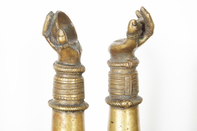 Antique Bronze Votive Hands from India For Sale 3