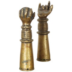 Antique Bronze Votive Hands from India