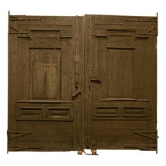 Antique Brown Painted Gate Doors, Grand Scale