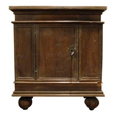 Antique Brown Walnut Cabinet, Small Cabinet, 16th Century, from Umbria, 'Italy'