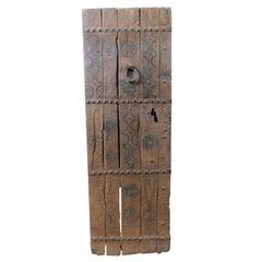 Antique Brown Wooden Door, Ethnic Black Tribal Designs, 800 Africa