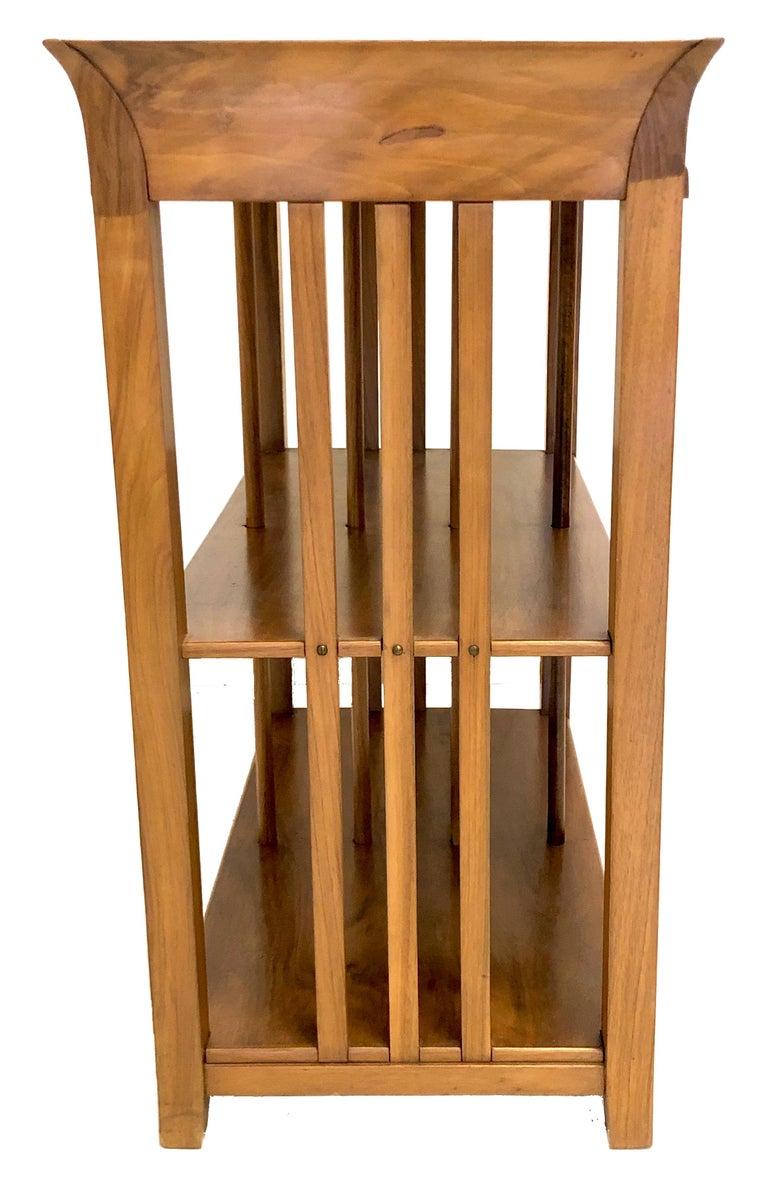 German Antique Bruno Paul Mahogany Shelf Cabinet Étagère For Sale