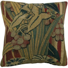 Antique Brussels Baroque Tapestry Pillow circa 16th Century 1434p