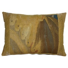 Antique Brussels Tapestry Pillow circa 1650 1732p