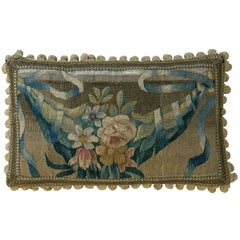 Antique Brussels Tapestry Pillow, circa 16th Century 1332p