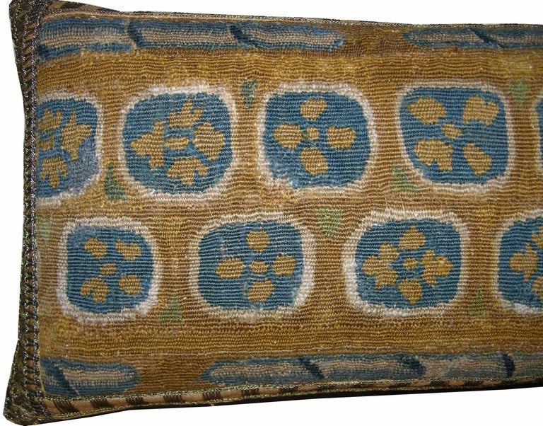 Antique Brussels tapestry pillow, circa 17th century, 1746p.