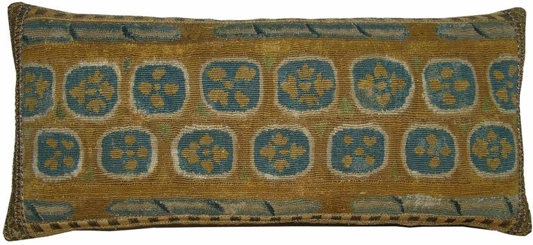 Other Antique Brussels Tapestry Pillow circa 17th Century, 1746p For Sale