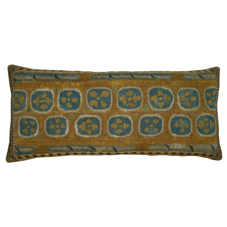 Antique Brussels Tapestry Pillow circa 17th Century, 1746p For Sale