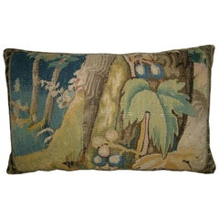 Antique Brussels Tapestry Pillow, circa 17th Century 1745p