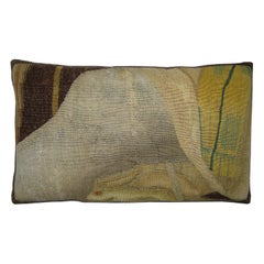 Antique Brussels Tapestry Pillow circa 17th Century 1776p