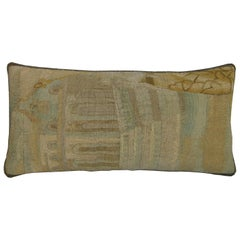 Antique Brussels Tapestry Pillow, circa 17th Century : Y & B Bolour