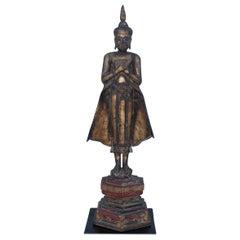Antique Buddha Standing Sculpture
