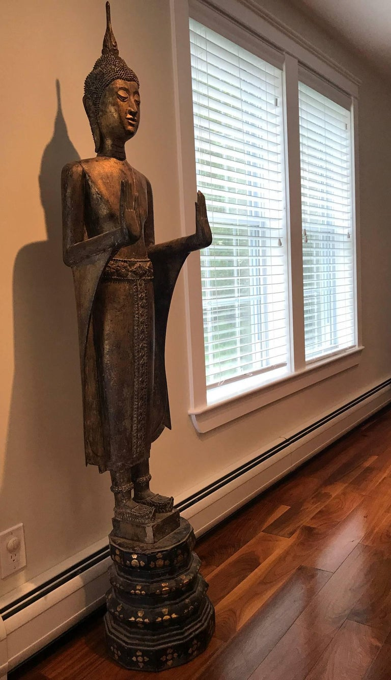 Antique Buddha Statue Laos Southeast Asia For Sale 1