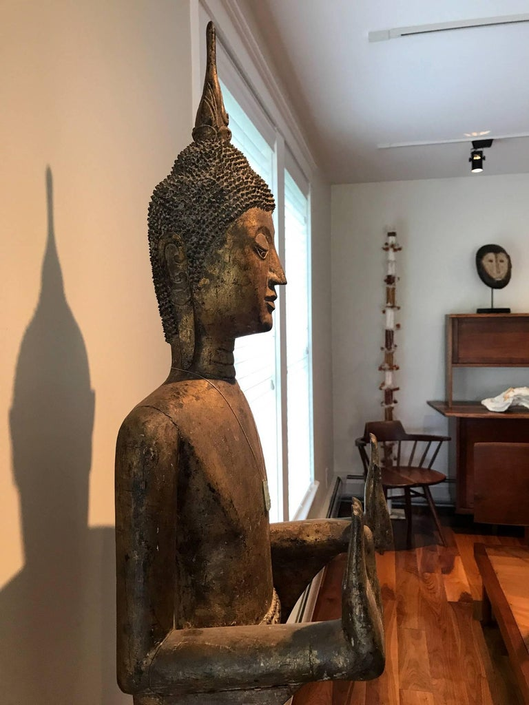 Antique Buddha Statue Laos Southeast Asia For Sale 2