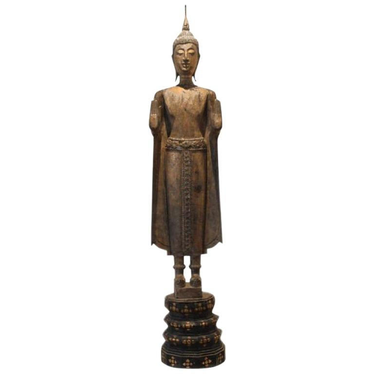 Antique Buddha Statue Laos Southeast Asia For Sale