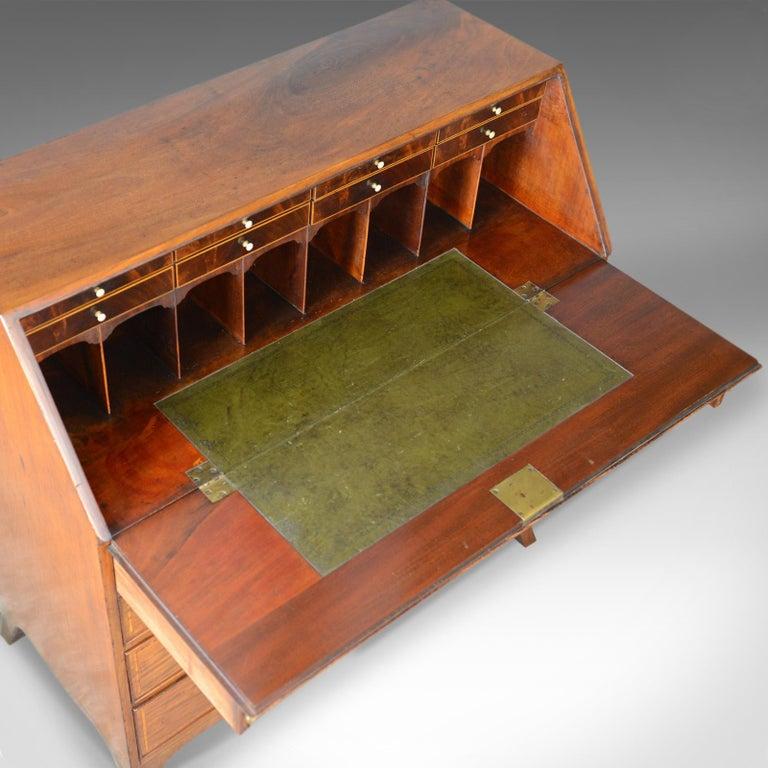 Antique Bureau, Mahogany, English, Georgian, Desk, 18th Century, circa 1770 For Sale 2