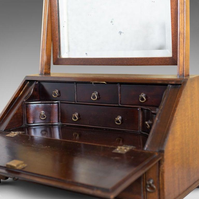 Antique Bureau Mirror, English, Georgian Revival, Mahogany, Toilet, circa 1910 For Sale 3