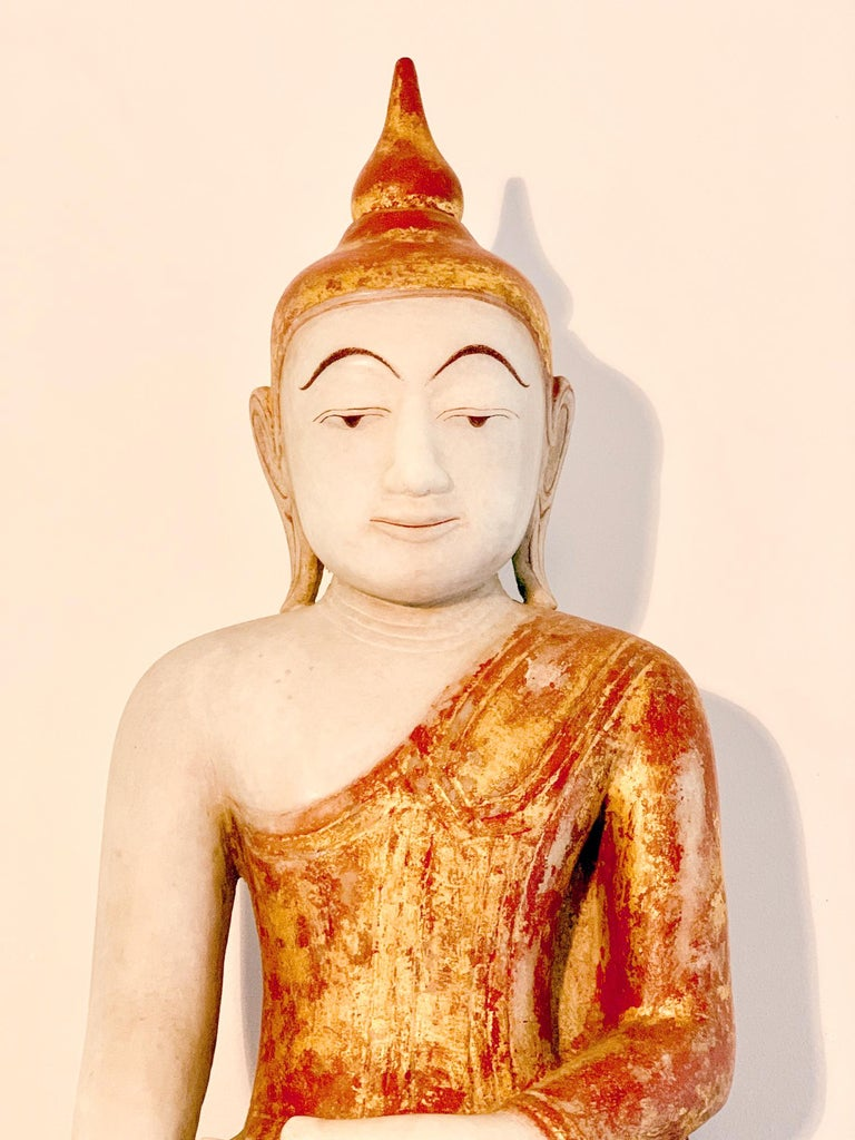 Other Antique Burmese Marble Buddha Statue For Sale
