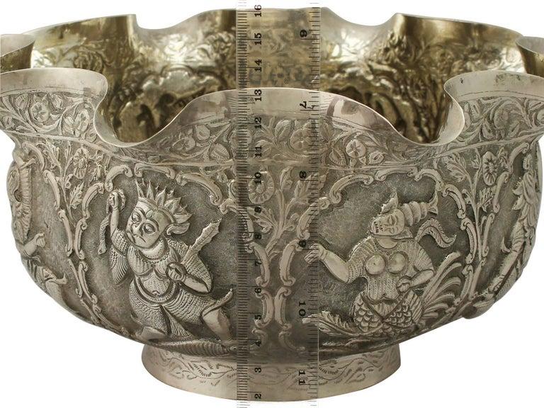 Antique Burmese Silver Bowl For Sale 2