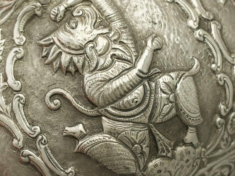 Antique Burmese Silver Bowl For Sale 4
