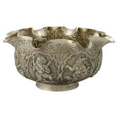 Antique Burmese Silver Bowl