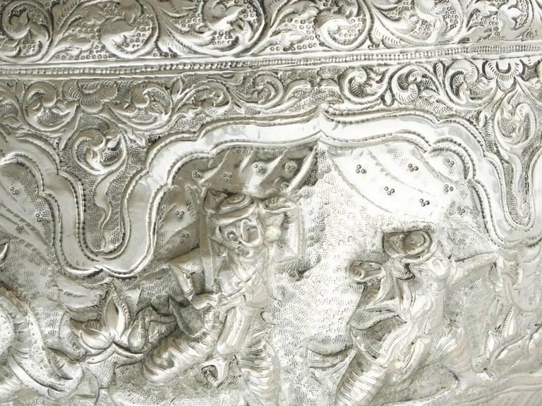 Antique Burmese Silver Thabeik Bowl For Sale 2