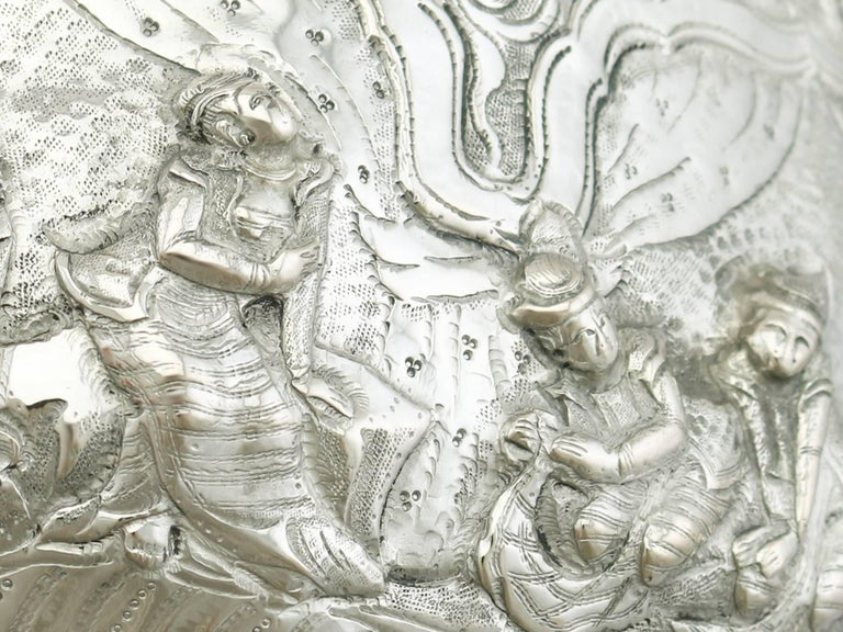 Antique Burmese Silver Thabeik Bowl For Sale 4