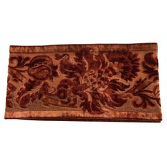 Antique Burnt Orange Gaufrage Velvet Trims