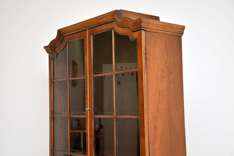 Antique Burr Walnut Bookcase For Sale 2